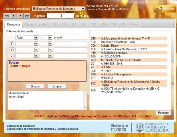 AMBAR - Módulo catalogación
